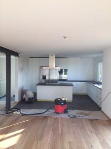 Rénovation complète, crépis,  marmoran, plâtre et béton ciré au sol